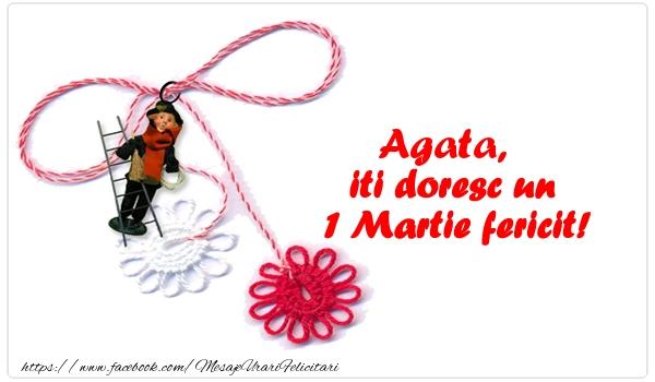 Felicitari de Martisor | Agata iti doresc un 1 Martie fericit!