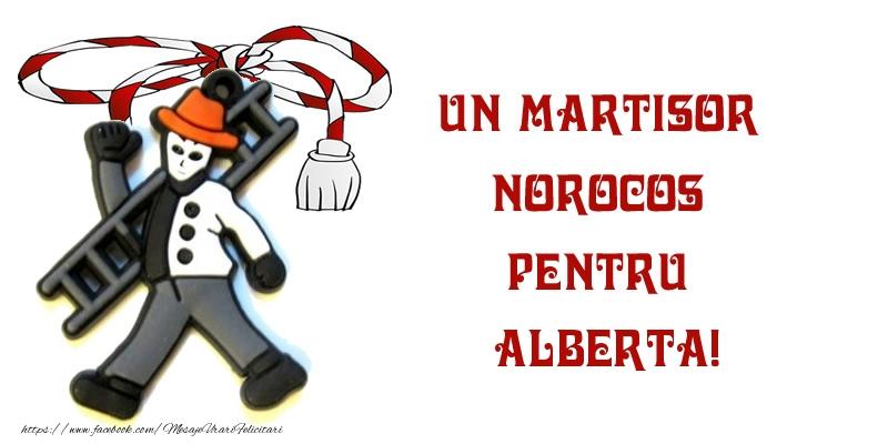 Felicitari de Martisor | Un martisor norocos pentru Alberta!
