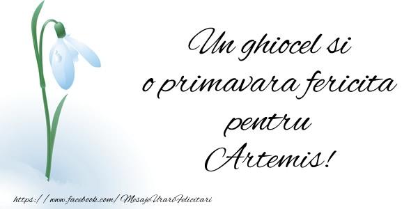 Felicitari de Martisor | Un ghiocel si o primavara fericita pentru Artemis!