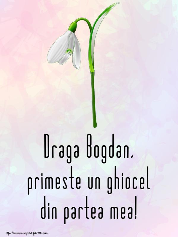Felicitari de Martisor | Draga Bogdan, primeste un ghiocel din partea mea!