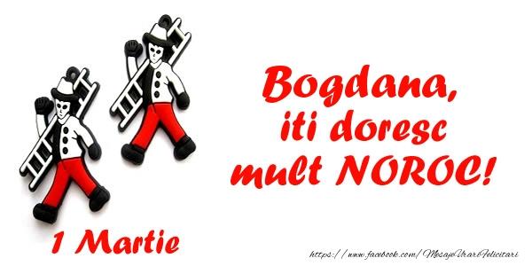 Felicitari de Martisor | Bogdana iti doresc mult NOROC!