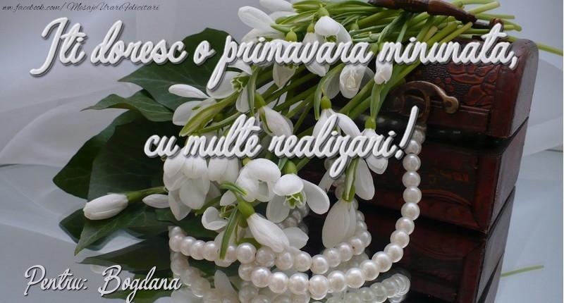 Felicitari de Martisor | Felicitare de 1 martie Bogdana