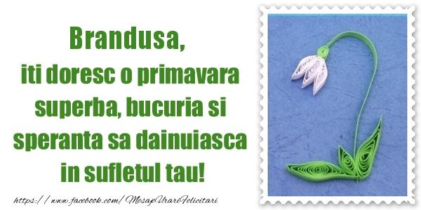 Felicitari de Martisor | Brandusa iti doresc o primavara superba, bucuria si  speranta sa dainuiasca in sufletul tau!