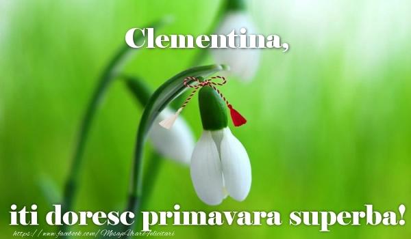 Felicitari de Martisor   Clementina iti doresc primavara superba!