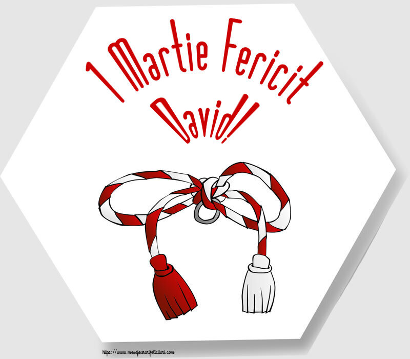 Felicitari de Martisor   1 Martie Fericit David!