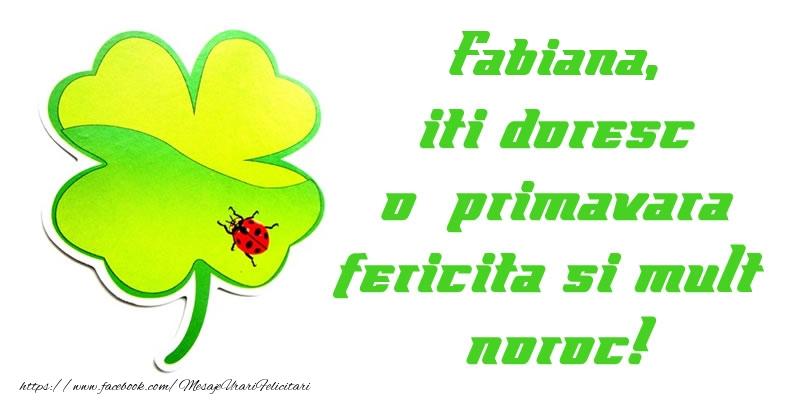 Felicitari de Martisor | Fabiana iti doresc o primavara fericita si mult noroc!