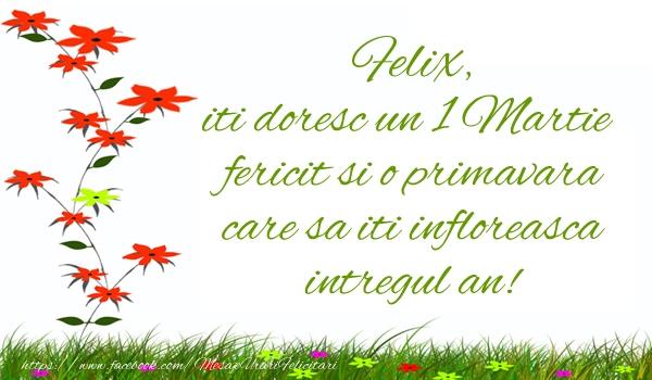 Felicitari de Martisor | Felix iti doresc un 1 Martie  fericit si o primavara care sa iti infloreasca intregul an!