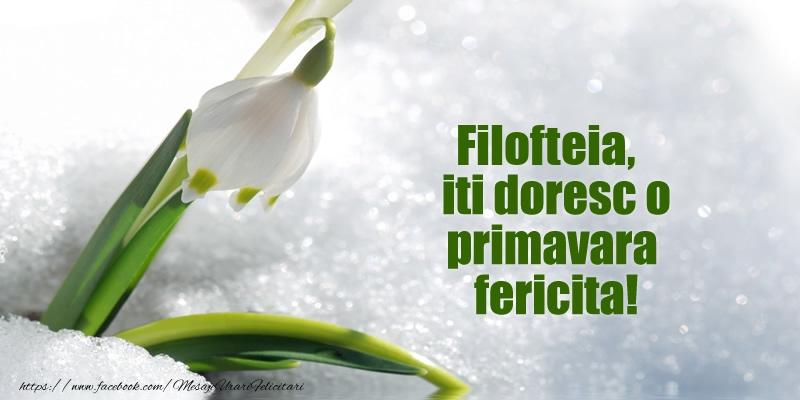 Felicitari de Martisor | Filofteia, iti doresc o primavara fericita!