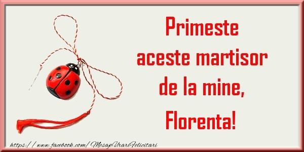 Felicitari de Martisor | Primeste aceste martisor de la mine, Florenta