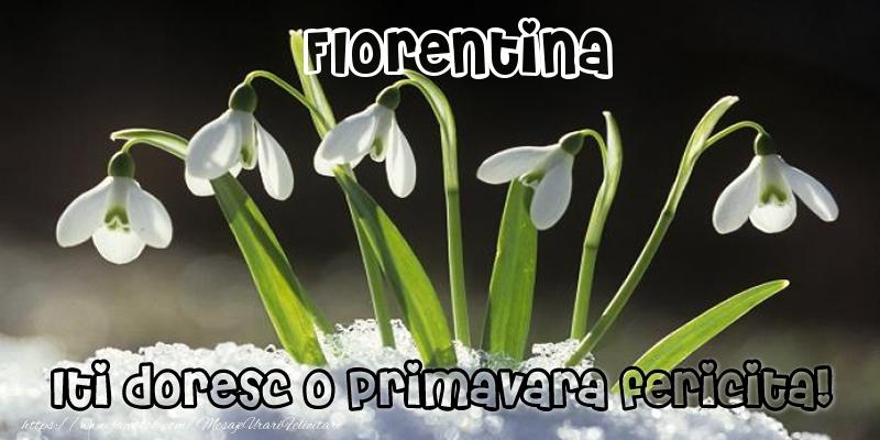 Felicitari de Martisor   Florentina Iti doresc o primavara fericita!