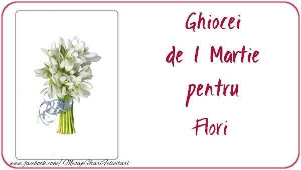 Felicitari de Martisor | Ghiocei de 1 Martie pentru Flori