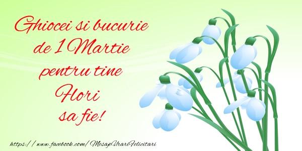 Felicitari de Martisor | Ghiocei si bucurie de 1 Martie pentru tine Flori sa fie!