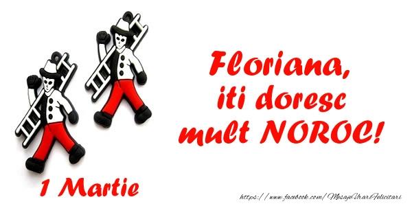 Felicitari de Martisor | Floriana iti doresc mult NOROC!