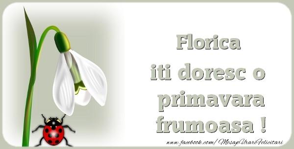 Felicitari de Martisor | Florica iti doresc o primavara frumoasa