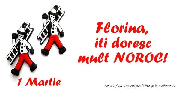 Felicitari de Martisor | Florina iti doresc mult NOROC!