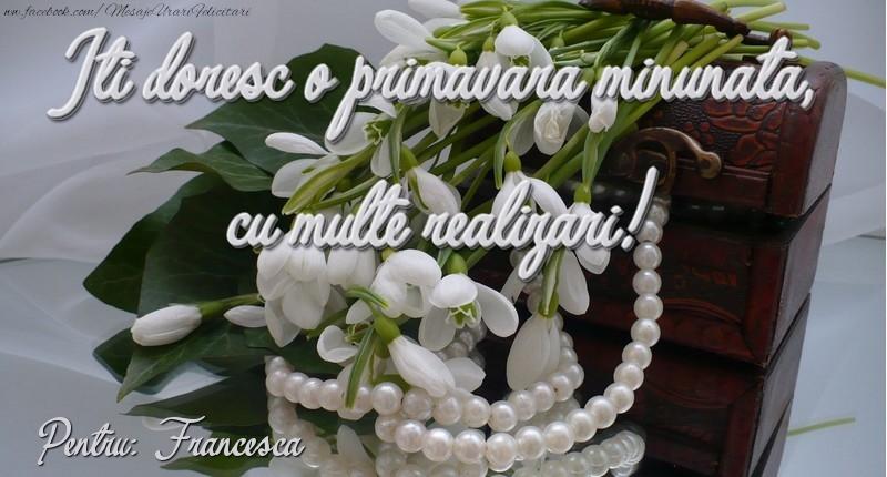 Felicitari de Martisor | Felicitare de 1 martie Francesca