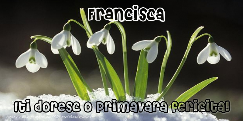 Felicitari de Martisor | Francisca Iti doresc o primavara fericita!