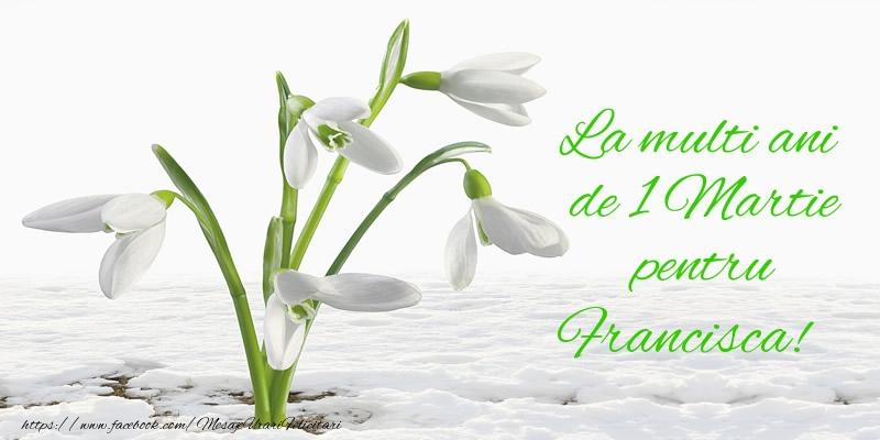Felicitari de Martisor | La multi ani de 1 Martie pentru Francisca!