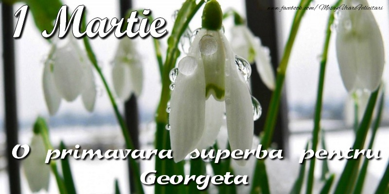 Felicitari de Martisor | O primavara superba pentru Georgeta