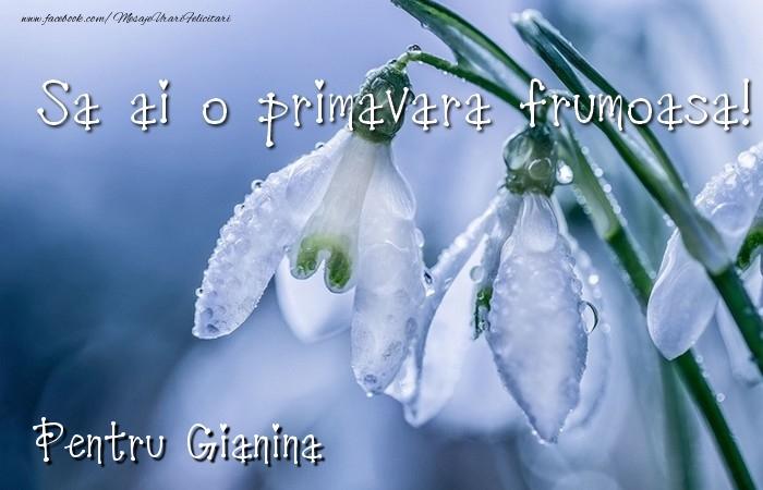 Felicitari de Martisor | Va doresc o primavara minunata Gianina
