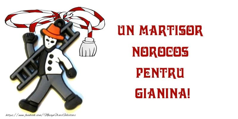 Felicitari de Martisor | Un martisor norocos pentru Gianina!