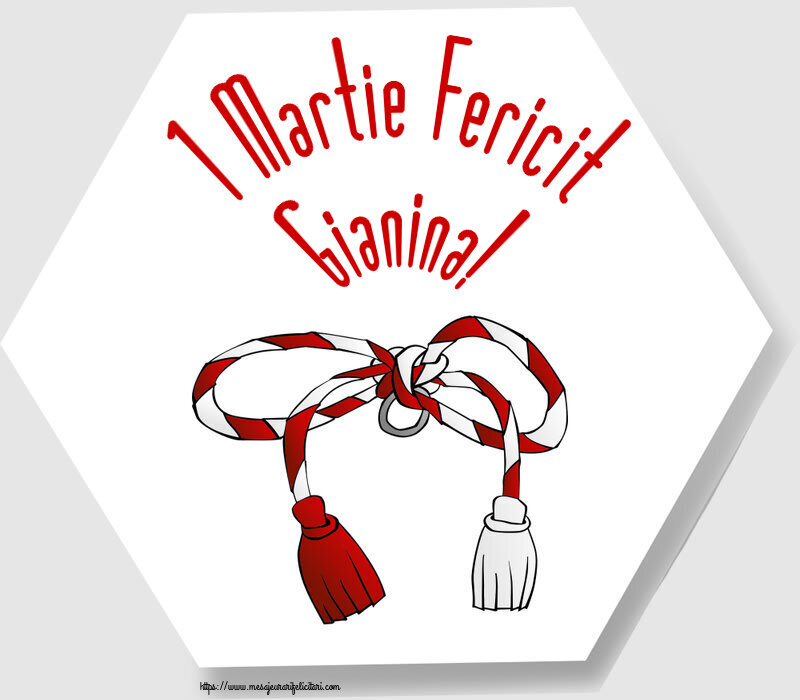 Felicitari de Martisor | 1 Martie Fericit Gianina!