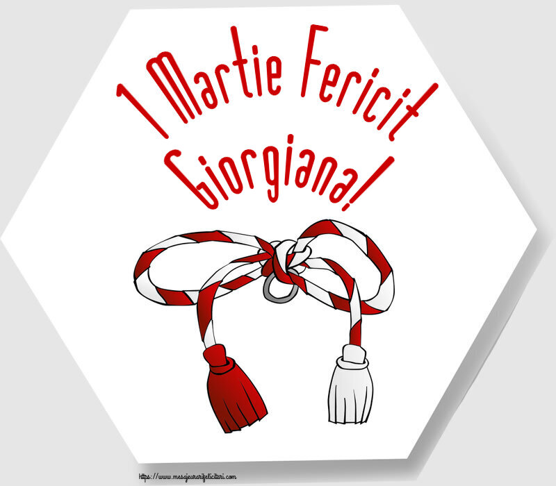 Felicitari de Martisor | 1 Martie Fericit Giorgiana!