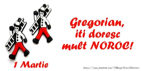 Felicitari de Martisor   Gregorian iti doresc mult NOROC!