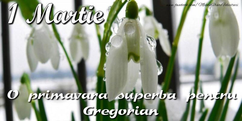 Felicitari de Martisor   O primavara superba pentru Gregorian