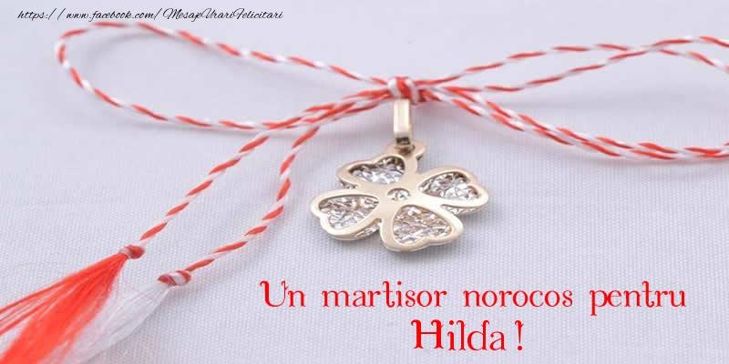 Felicitari de Martisor | Un martisor norocos pentru Hilda!