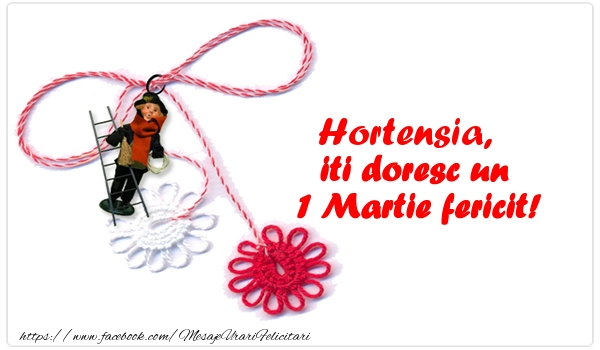 Felicitari de Martisor | Hortensia iti doresc un 1 Martie fericit!