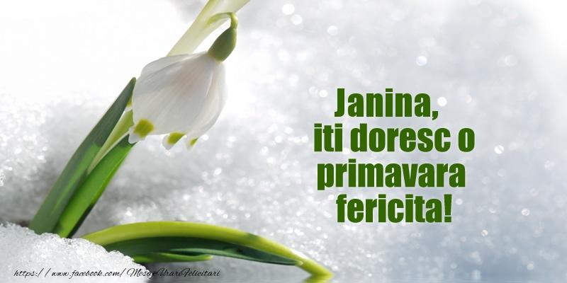 Felicitari de Martisor | Janina, iti doresc o primavara fericita!