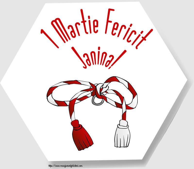 Felicitari de Martisor | 1 Martie Fericit Janina!