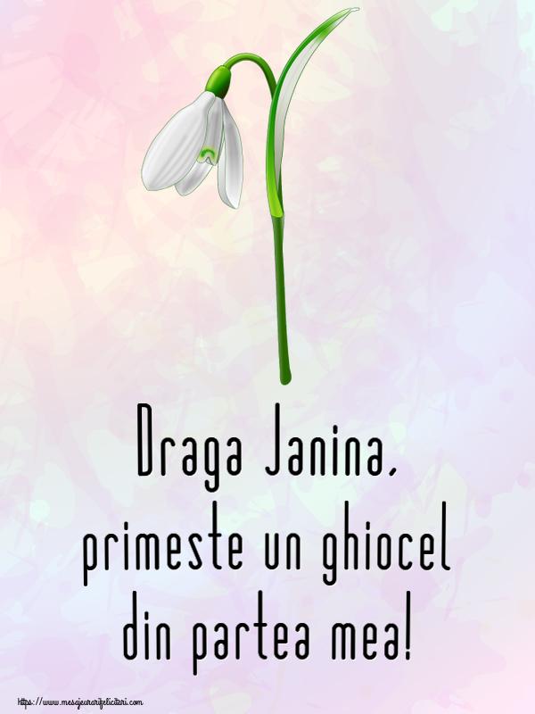 Felicitari de Martisor | Draga Janina, primeste un ghiocel din partea mea!