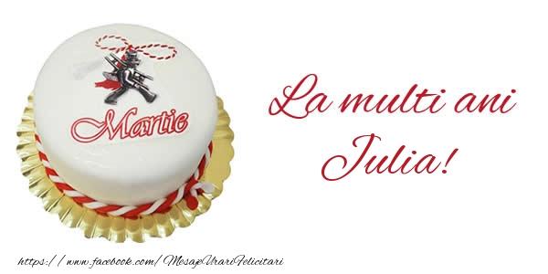 Felicitari de Martisor   1 martie La multi ani  Julia!