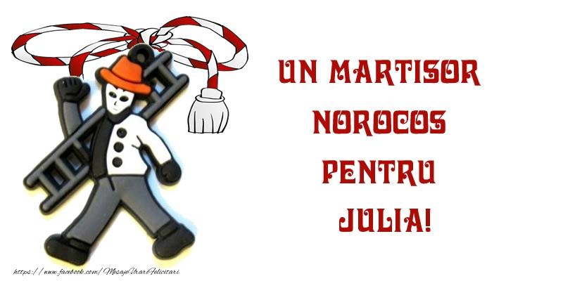 Felicitari de Martisor | Un martisor norocos pentru Julia!