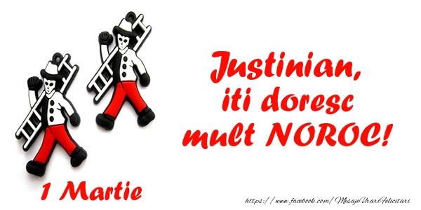 Felicitari de Martisor   Justinian iti doresc mult NOROC!