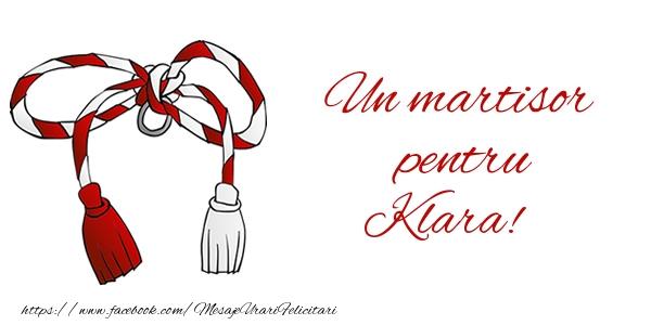 Felicitari de Martisor | Un martisor pentru Klara!