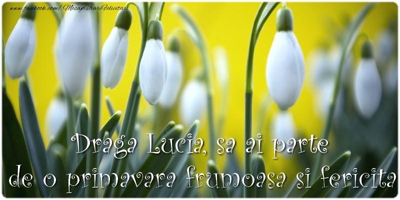 Felicitari de Martisor | Draga Lucia, sa ai parte de o primavara frumoasa si fericita