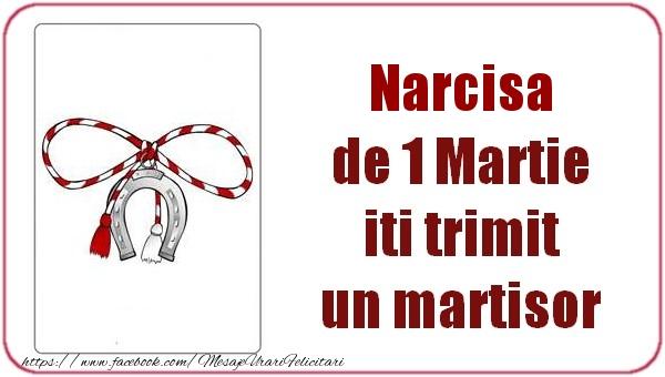 Felicitari de Martisor   Narcisa de 1 Martie  iti trimit  un martisor