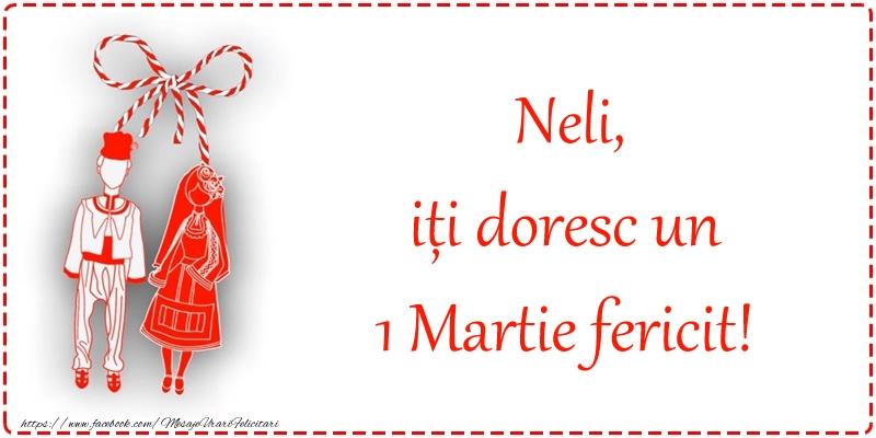 Felicitari de Martisor | Neli, iți doresc un 1 Martie fericit!