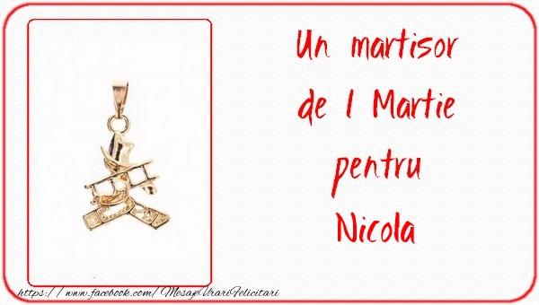 Felicitari de Martisor | Un martisor pentru Nicola