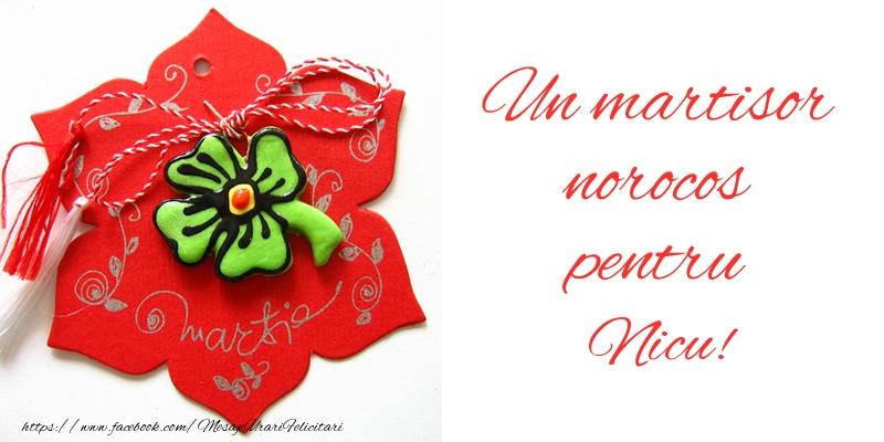 Felicitari de Martisor | Un martisor norocos pentru Nicu!