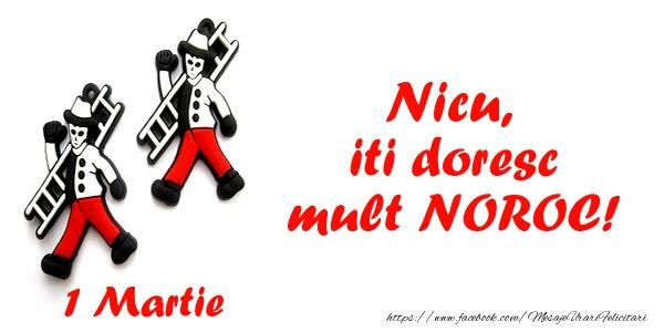 Felicitari de Martisor | Nicu iti doresc mult NOROC!