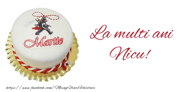 Felicitari de Martisor | 1 martie La multi ani  Nicu!
