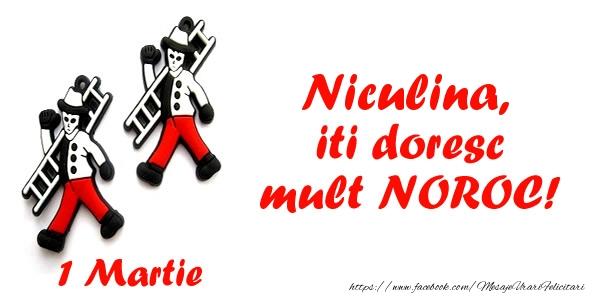 Felicitari de Martisor | Niculina iti doresc mult NOROC!