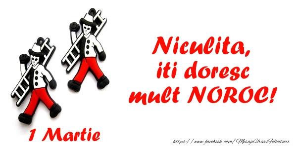 Felicitari de Martisor | Niculita iti doresc mult NOROC!