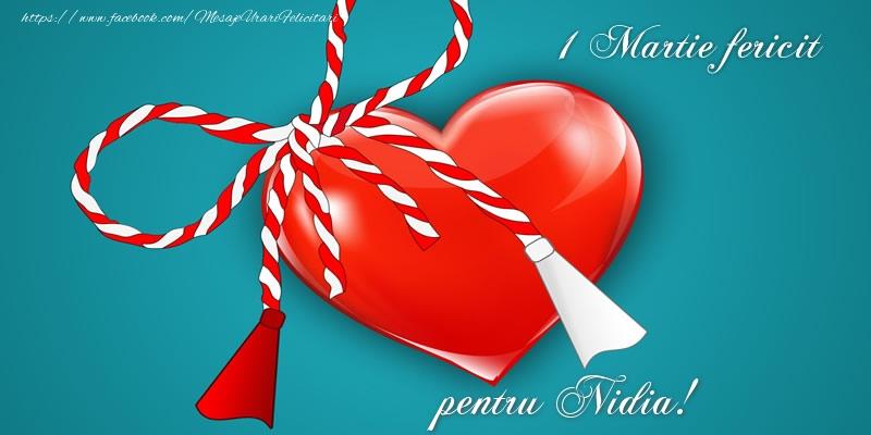 Felicitari de Martisor   1 Martie fericit pentru Nidia