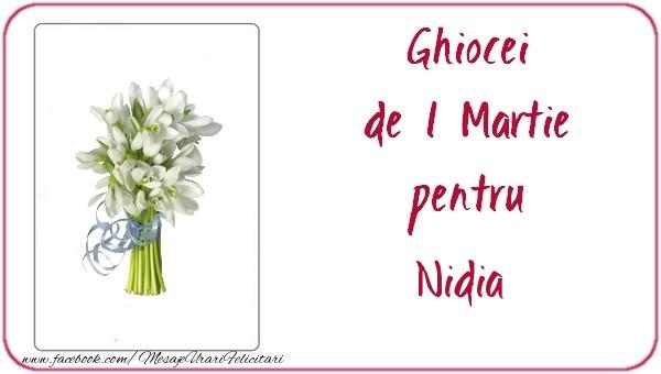 Felicitari de Martisor   Ghiocei de 1 Martie pentru Nidia