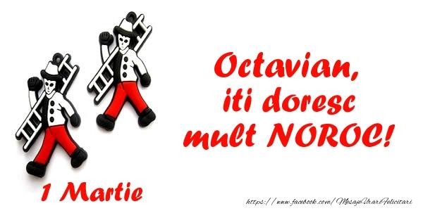 Felicitari de Martisor   Octavian iti doresc mult NOROC!